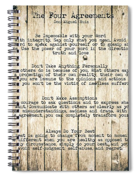 The Four Agreements 8 Spiral Notebook