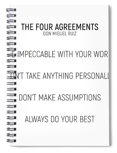 The Four Agreements #minismalism #shortversion Spiral Notebook