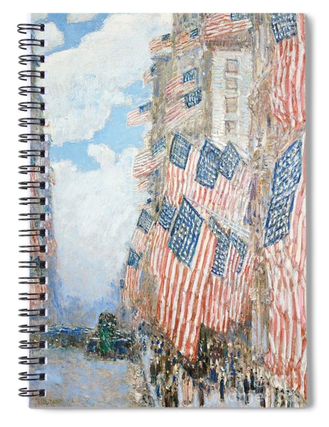 The Fourth Of July Spiral Notebook