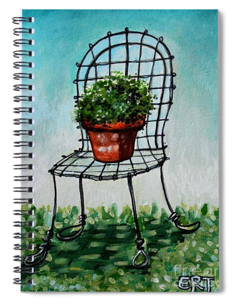 The French Garden Cafe Chair Spiral Notebook
