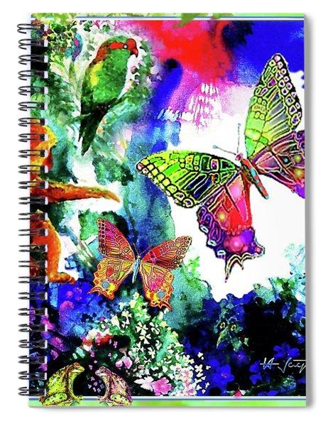 The Garden Of Eden Spiral Notebook