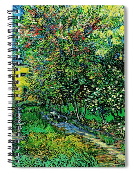 The Garden Of The Asylum At Saint-remy Spiral Notebook