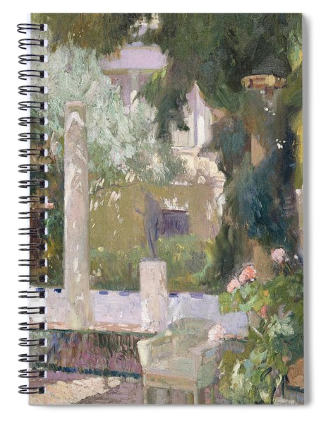 The Gardens At The Sorolla Family House Spiral Notebook