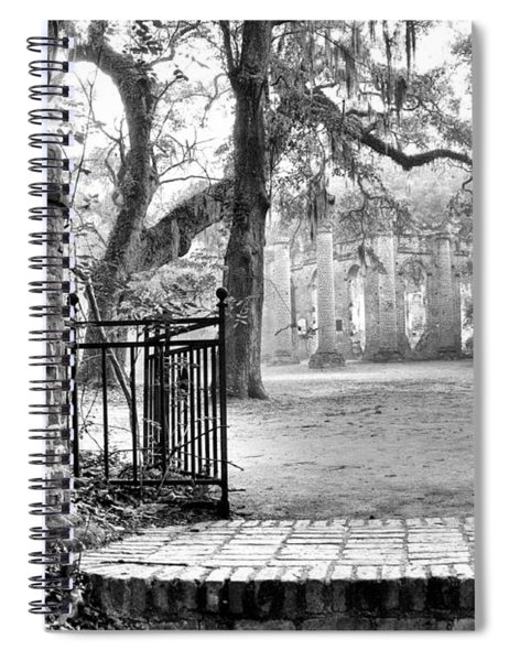 The Gates Of The Old Sheldon Church Spiral Notebook