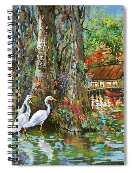 The Gathering - Louisiana Swamp Life Spiral Notebook