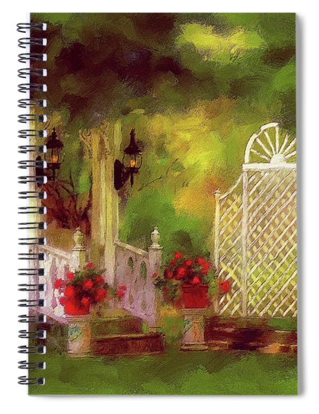 The Gazebo In Summer Spiral Notebook