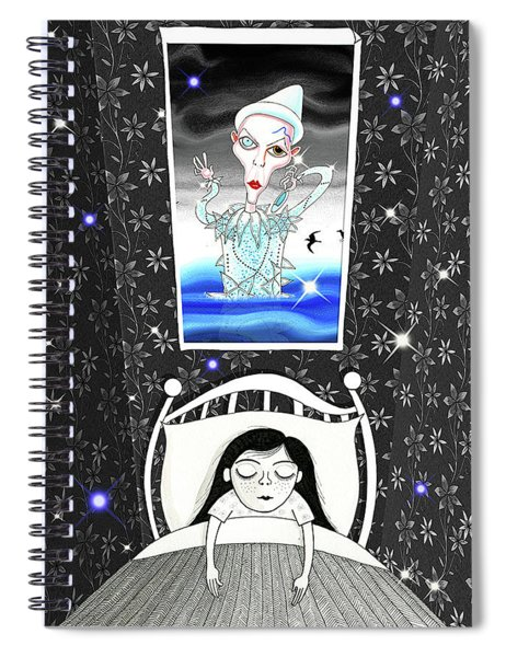The Girl Who Dreamed Of David Bowie  Spiral Notebook