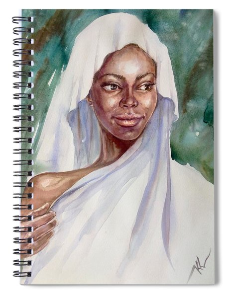 The Girl With The White Scarf Spiral Notebook