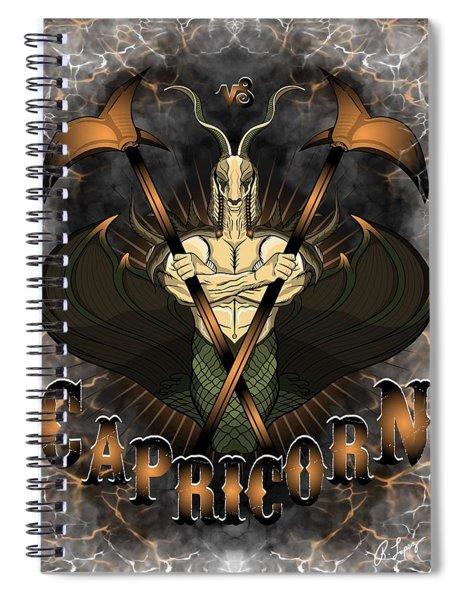 The Goat Capricorn Spirit Spiral Notebook