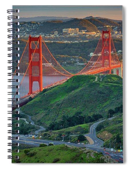 The Golden Gate At Sunset Spiral Notebook