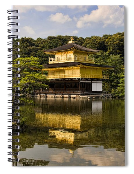 The Golden Pagoda In Kyoto Japan Spiral Notebook