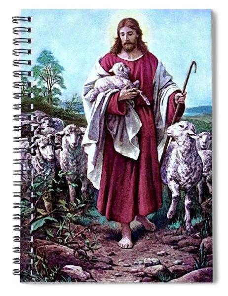 The Good Shepherd 1878 Bernhard Plockhorst Spiral Notebook