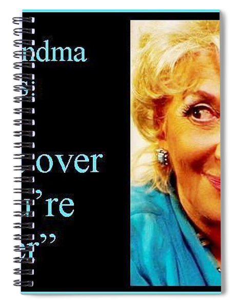 The Grandma Over And Under Spiral Notebook