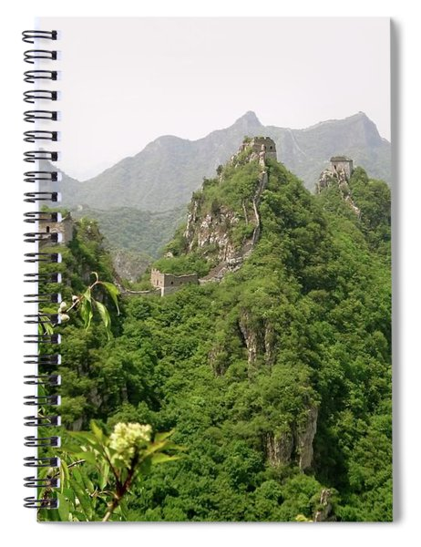 The Great Wall Of China Winding Over Mountains Spiral Notebook