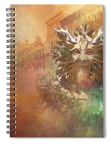 The Green Man Cometh Spiral Notebook