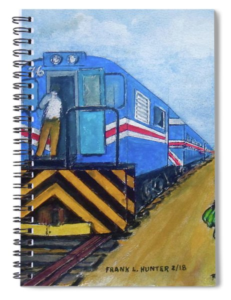 The Green Train From Limon Costa Rica Spiral Notebook
