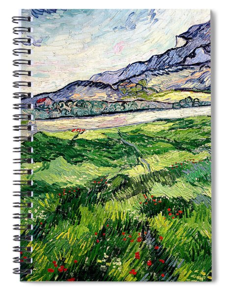 The Green Wheatfield Behind The Asylum Spiral Notebook