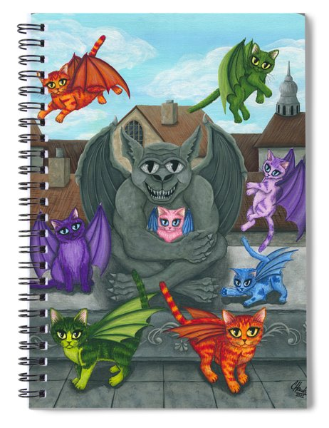 The Guardian Gargoyle Aka The Kitten Sitter Spiral Notebook