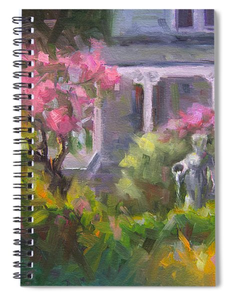 The Guardian - Plein Air Lilac Garden Spiral Notebook