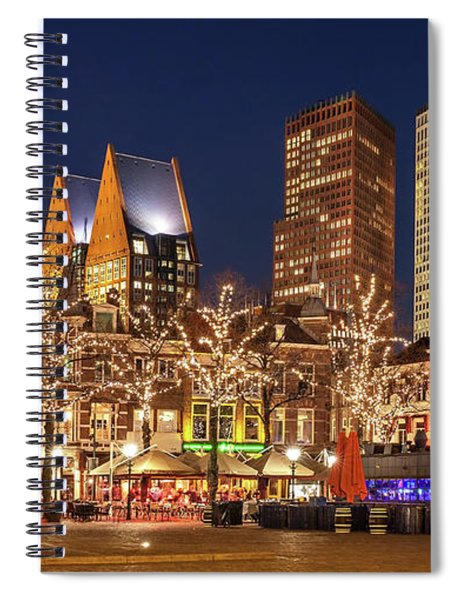 Spiral Notebook featuring the photograph The Hague Skyline From The Plein by Barry O Carroll