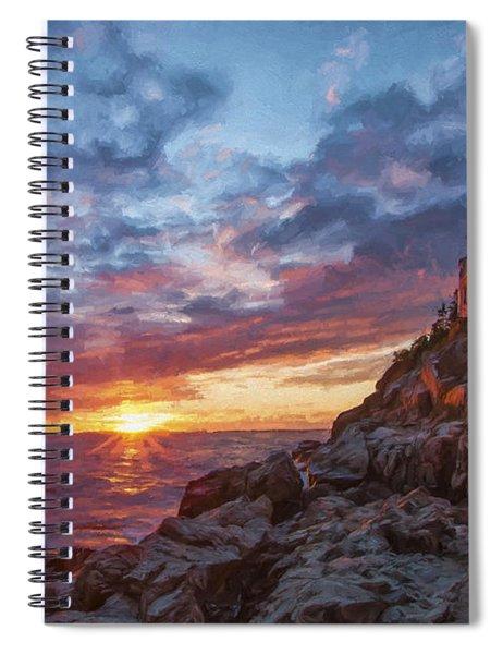 The Harbor Dusk  Iv Spiral Notebook