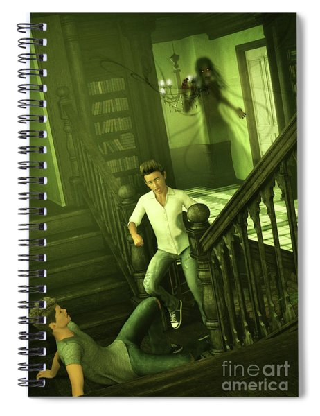 The Haunted Manor Spiral Notebook