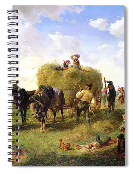 The Hay Harvest Spiral Notebook