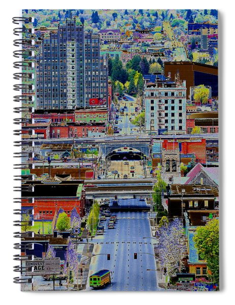 The Heart Of Downtown Spokane  Spiral Notebook