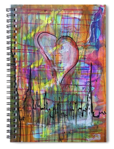 The Heart Of The City Spiral Notebook