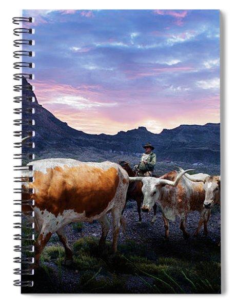 Texas Longhorns Blue Spiral Notebook