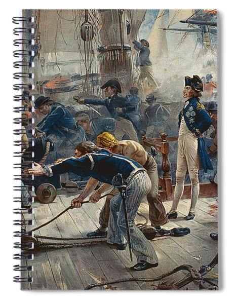 The Hero Of Trafalgar Spiral Notebook