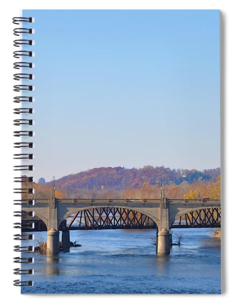 The Hill To Hill Bridge - Bethlehem Pa Spiral Notebook