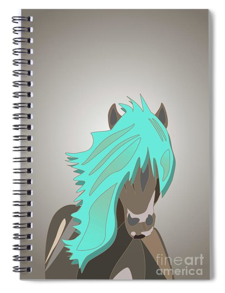 The Horse With The Turquoise Mane Spiral Notebook