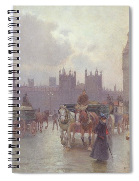 The Houses Of Parliament From Westminster Bridge Spiral Notebook