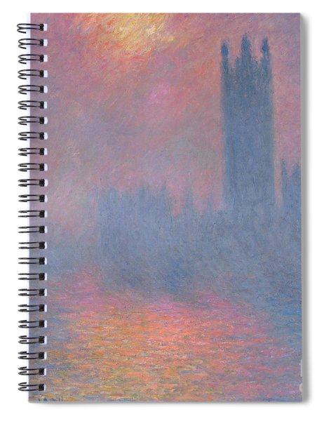 The Houses Of Parliament London Spiral Notebook