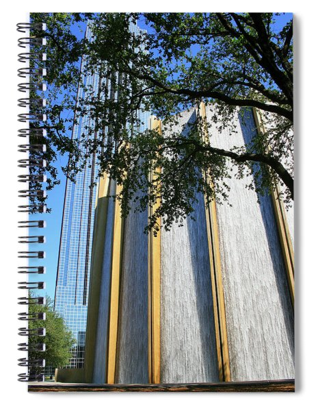 The Houston Water Wall And Williams Tower Spiral Notebook
