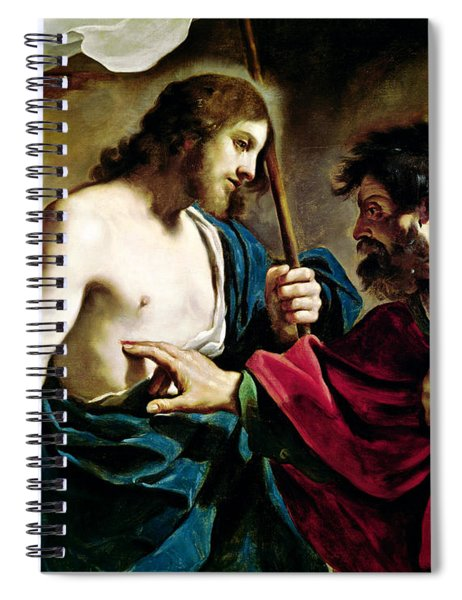 The Incredulity Of Saint Thomas Spiral Notebook