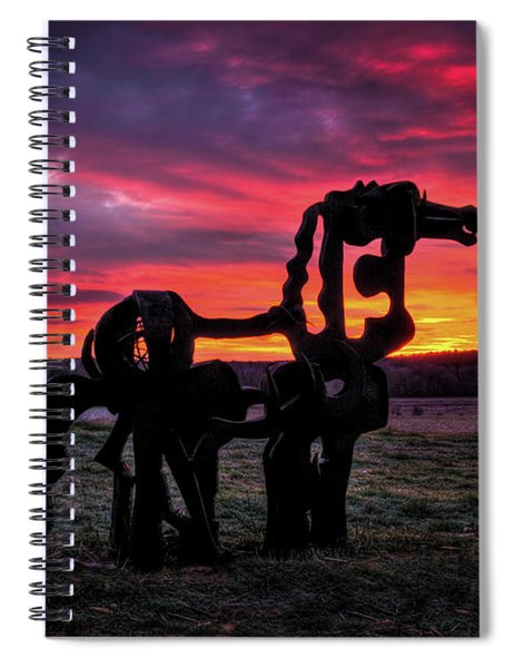 The Iron Horse Sun Up Art Spiral Notebook