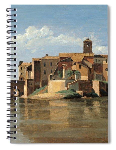 The Island And Bridge Of San Bartolomeo Spiral Notebook