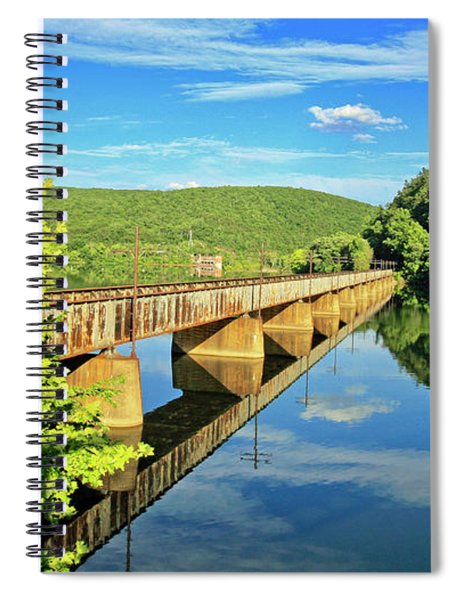 The James River Trestle Bridge, Va Spiral Notebook