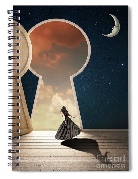 Curiouser And Curiouser Spiral Notebook