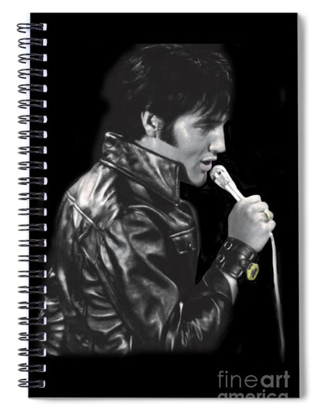 The King Rocks On Xlv Spiral Notebook