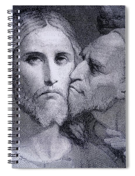 The Kiss. Judas Iscariot Kisses Jesus Spiral Notebook