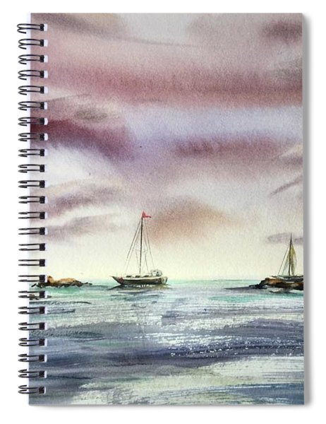 The Kiss Of The Night Spiral Notebook