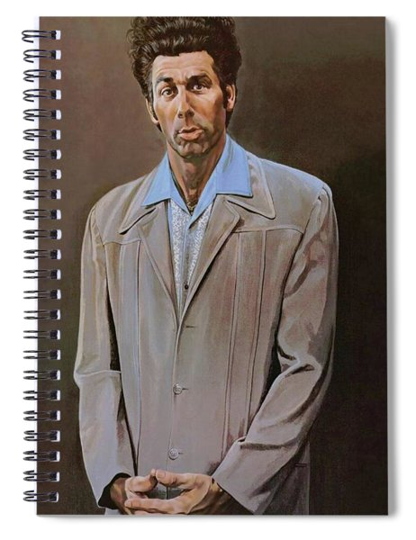 Spiral Notebook featuring the painting The Kramer Portrait  by Movie Poster Prints