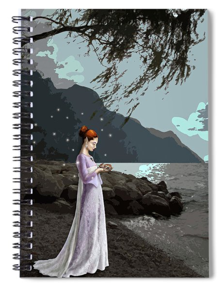 The Lady And The Kitty Spiral Notebook