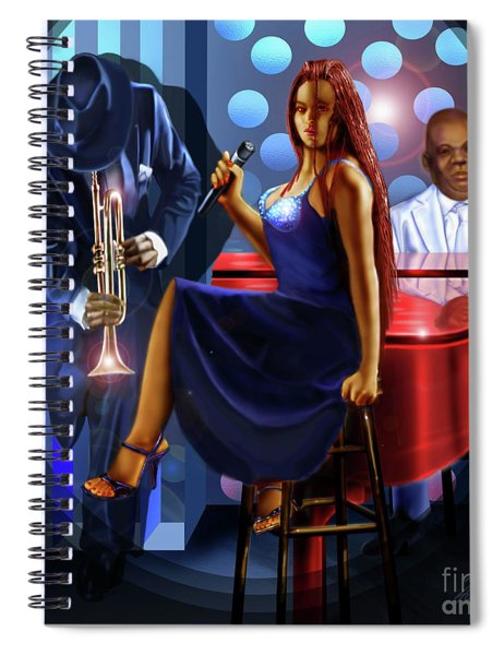 The Lady Jazz Singer Spiral Notebook
