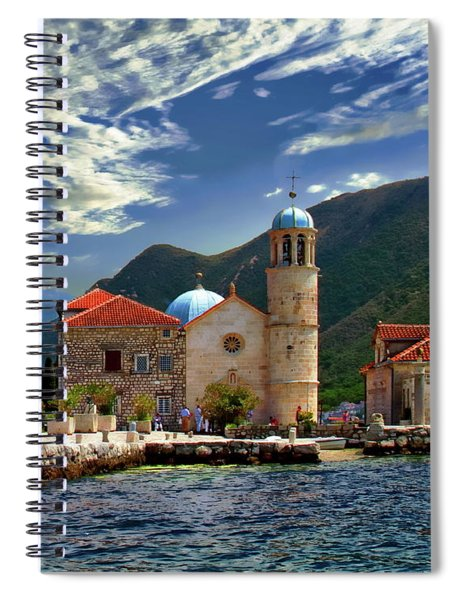 The Lady Of The Rocks Spiral Notebook