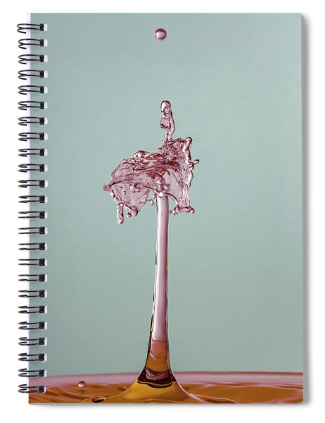 The Lady On The Water Drop Spiral Notebook