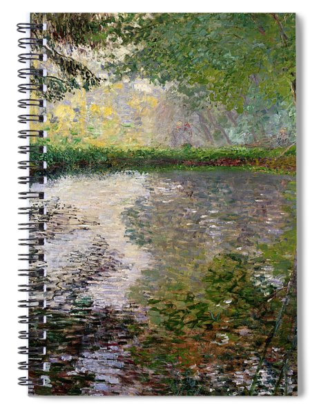 The Lake At Montgeron Spiral Notebook